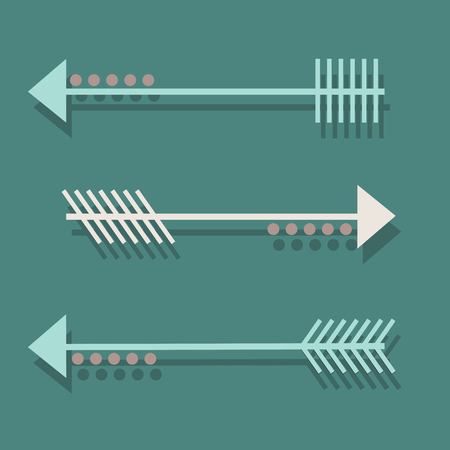 different directions: arrows in different directions with a rounds