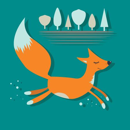 canid: Red Fox run with eyes closed
