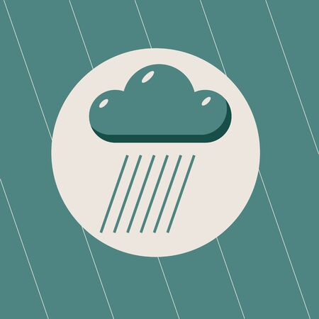 heavy rain: raining weather symbol of heavy Rain Illustration