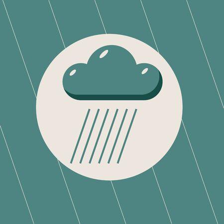 raining: raining weather symbol of heavy Rain Illustration
