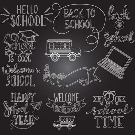 white back: black and white back to school