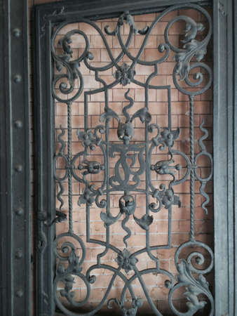 iron: Wrought iron door in Berlin Stock Photo