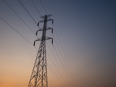 hight tech: electric power line.
