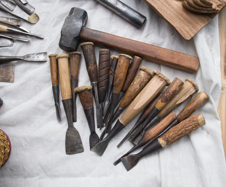 wood carving tools. Stock Photo