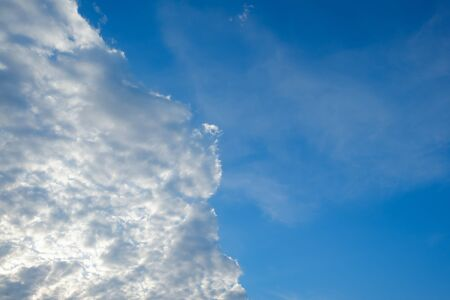 Altocumulus cloud on blue blue sky for background backdrop Stock Photo