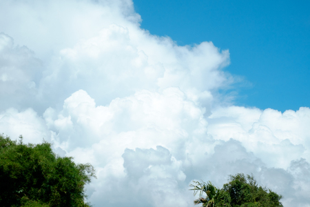 white cloud and sky for backdrop and background use