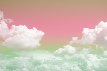 colorful soft cloud and sky