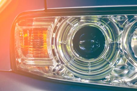 car headlight close up