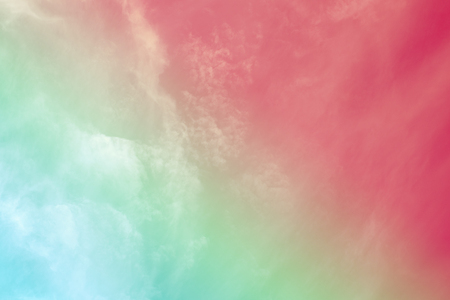 Colorful soft cloud and sky with pastel gradient color for background backdrop and postcard, wall paper, desktop pc notebook wall, Abstract color style. Reklamní fotografie - 107993137