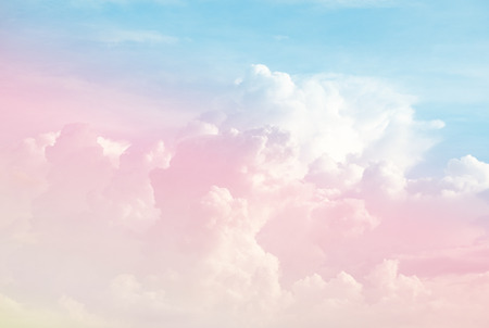 Colorful soft cloud and sky with pastel gradient color for background backdrop and postcard, wall paper, desktop pc notebook wall, Abstract color style. Reklamní fotografie - 107993139