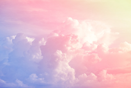 Colorful soft cloud and sky with pastel gradient color for background backdrop and postcard, wall paper, desktop pc notebook wall, Abstract color style.