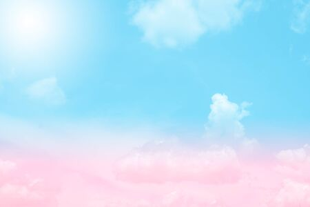 soft cloud and sky with pastel gradient color for background backdrop Reklamní fotografie - 136857874