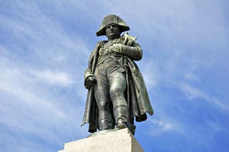 stardom: Napoleon monument in Corsica against blue sky