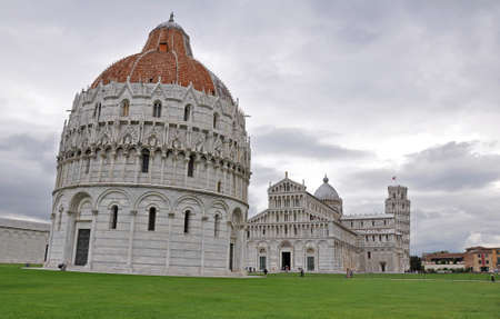 outside shooting: The Baptistry, the Cathedral of Santa Maria Assunta and the Tower of Pisa