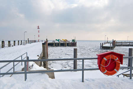 german north sea region: Port of List in winter Stock Photo