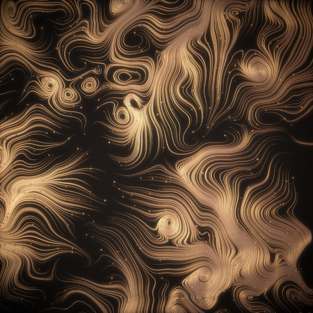 strands: Abstract 3d rendering gold shiny strands