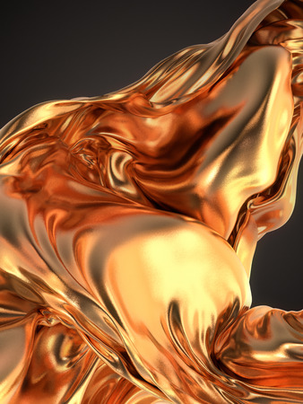 tissu or: Gold Cloth abstract background 3d rendering Banque d'images