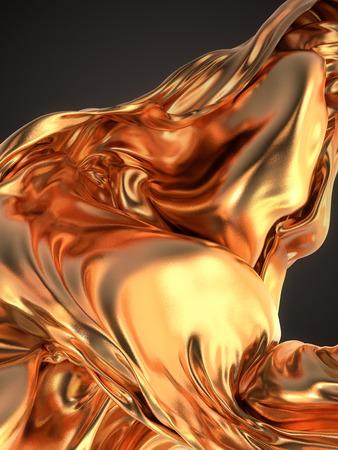 tissu or: Tissu d'or fond abstrait rendu 3d