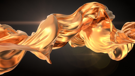 tissu or: Gold Cloth abstract 3d rendering background