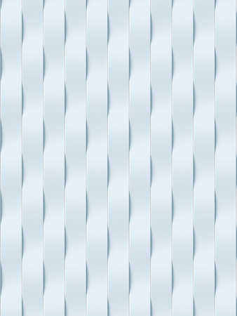 rendering: White wave band abstract surface pattern. 3d rendering Stock Photo