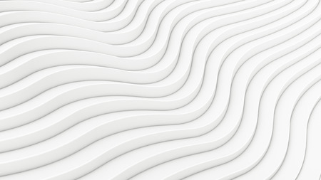 Wave band surface Abstract white background. Digital 3d illustration Stock Photo