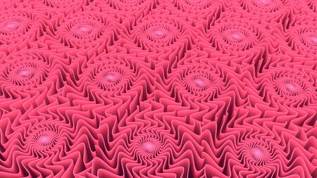 Abstract pattern background of three-dimensional pink shapes 3D rendering Imagens