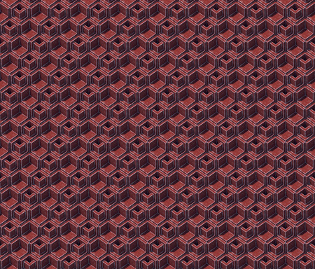 Abstract colored cubes. Seamless pattern background. 3d rendering