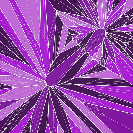 Abstract geometrical science concept. Pink colored voronoi low poly tesselated pattern texture. Modern covers design. 3d rendering Stock Photo