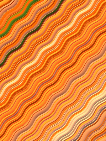Orange colored Wavy Background. Abstract Dynamic Effect. Design Template. Modern Pattern. 3d rendering Imagens