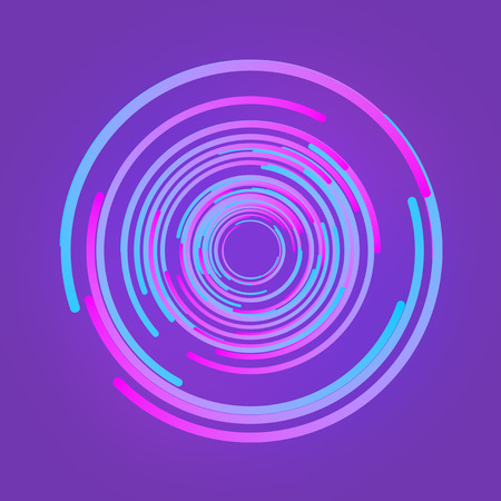Shapes with colored gradients composition. Abstract 3d rendering. Computer generated geometric pattern. Modern covers design with multicolored circles. Imagens
