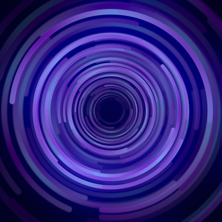 Shapes with blue colored gradients composition. Abstract 3d rendering. Computer generated geometric pattern. Modern covers design with multicolored circles.