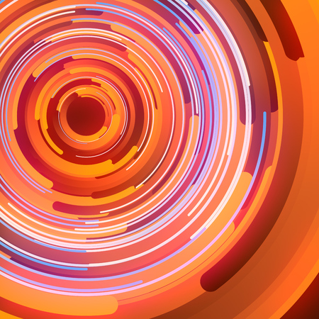 Shapes with orange colored gradients composition. Abstract 3d rendering. Computer generated geometric pattern. Modern covers design with multicolored circles.