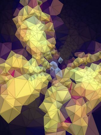 Abstract colored polygonal mosaic background with triangular geometric style. 3d rendering