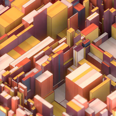 Abstract geometry shape background. Digital technology. 3d rendering multi colored illustration, modern graphic design