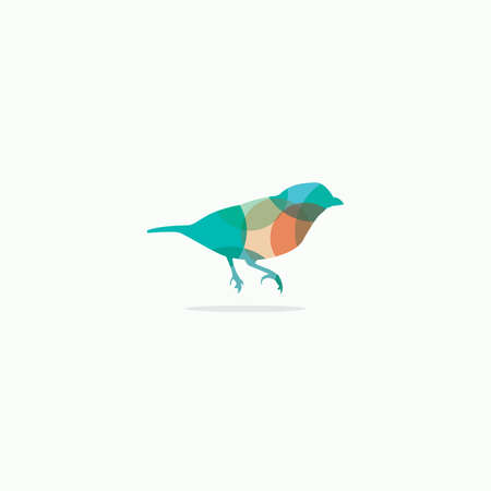 Sparrow vector design icon, bird symbol.