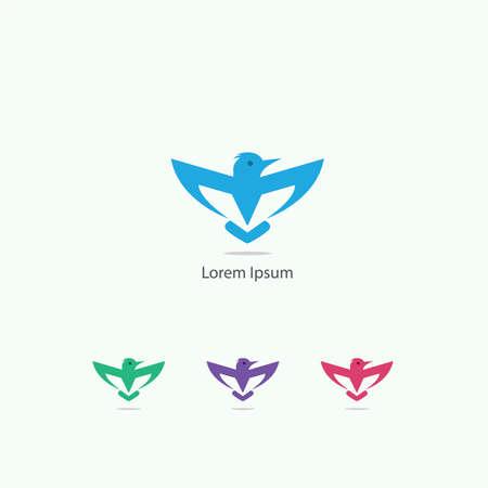 Hawk vector design icon, bird symbol.