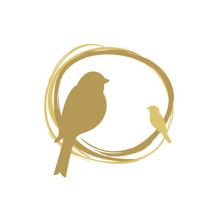 Bird nest design, birds vector icon.