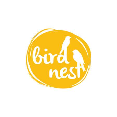 Bird nest design, birds vector icon.