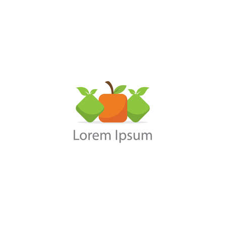 Restaurant logo design, healthy food lover vector icon. Çizim