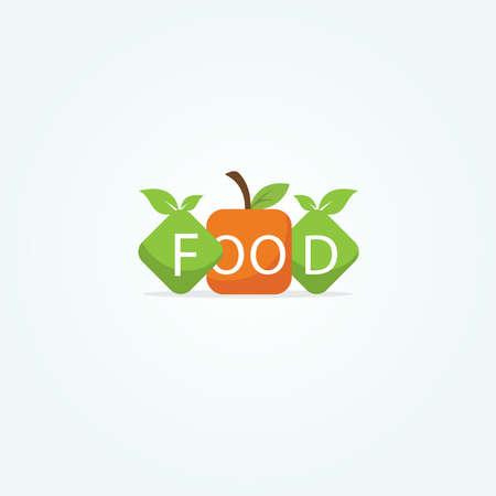 Restaurant logo design, healthy food lover vector icon. Stock Illustratie