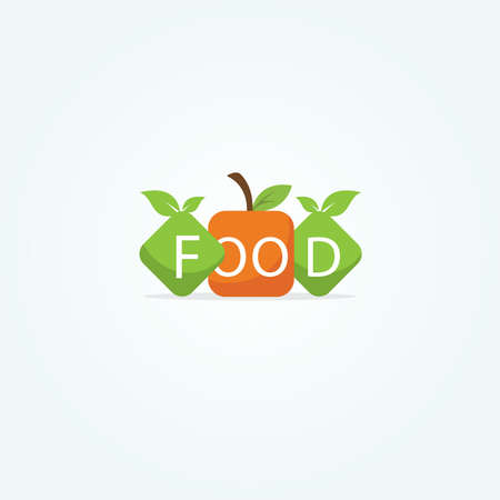 Restaurant logo design, healthy food lover vector icon. Illustration