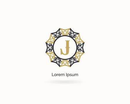 Premium letter J logo icon vector design. Luxury jewelry frame gem edge logotype. Spa and salon or cosmetic monogram Illustration