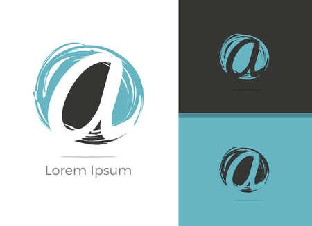 Spa and Salon massage center A letter design, letter A in zen vector icon.