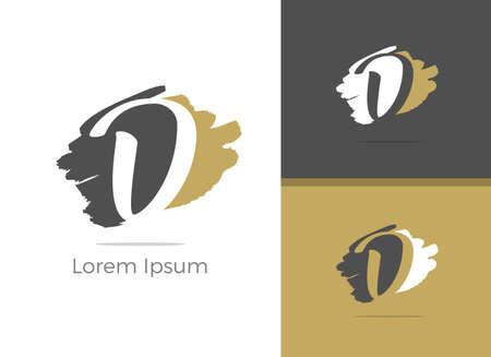 Beauty and Spa Massage center D letter design, letter D in Zen vector icon.