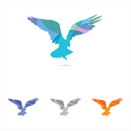 eagle vector logo design, eagle, falcon hawk colorful illustration.
