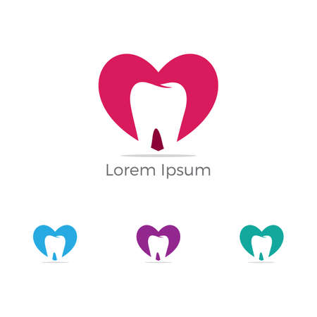 Dental logo, Home care dental service vector, dentist icon. Stock Illustratie