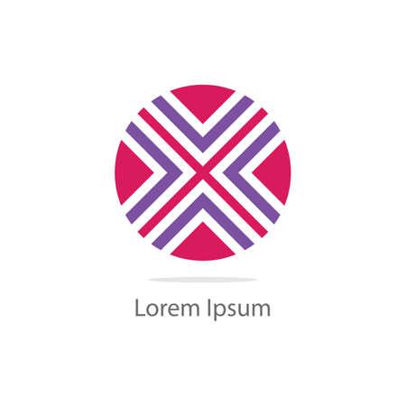 Geometric flower vector design icon. Spa and salon, beauty cosmetics logo design.