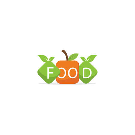 Low poly Restaurant Logo, food lover, healthy and organic Food Industry.