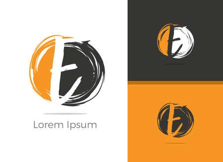 E letter logo design. Elegant letter E in circle vector icon. Illusztráció