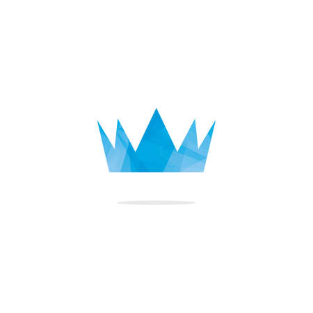 Colorful crown logo design, abstract king crown vector icon. Иллюстрация